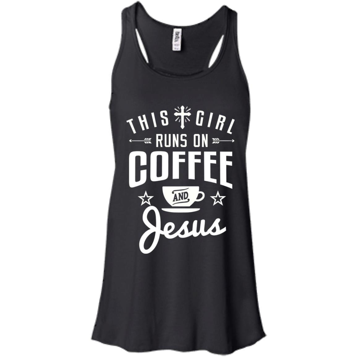 This Girl Runs on Coffee and Jesus  Ladies's Tank