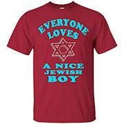 FUNNY EVERYONE LOVES A NICE JEWISH BOY T-SHIRT Hanukkah Gift