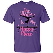 Best Price Gymnast Beam is My Happy Place Gymnastic TShirt