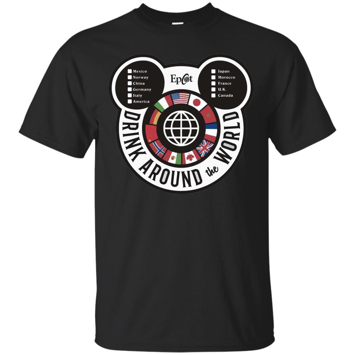 Drink Around the World – EPCOT Checklist T-Shirt