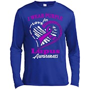 Lupus Awareness – I wear Purple For My Hero LS T-Shirt