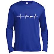 Scuba Diving Heart Beat shirt – Best Gift for Diver – LS T-Shirt