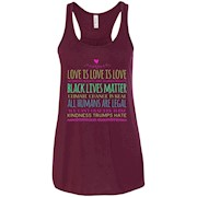 Love is love, Women's rights, Black lives matter Women's Racerback Tank