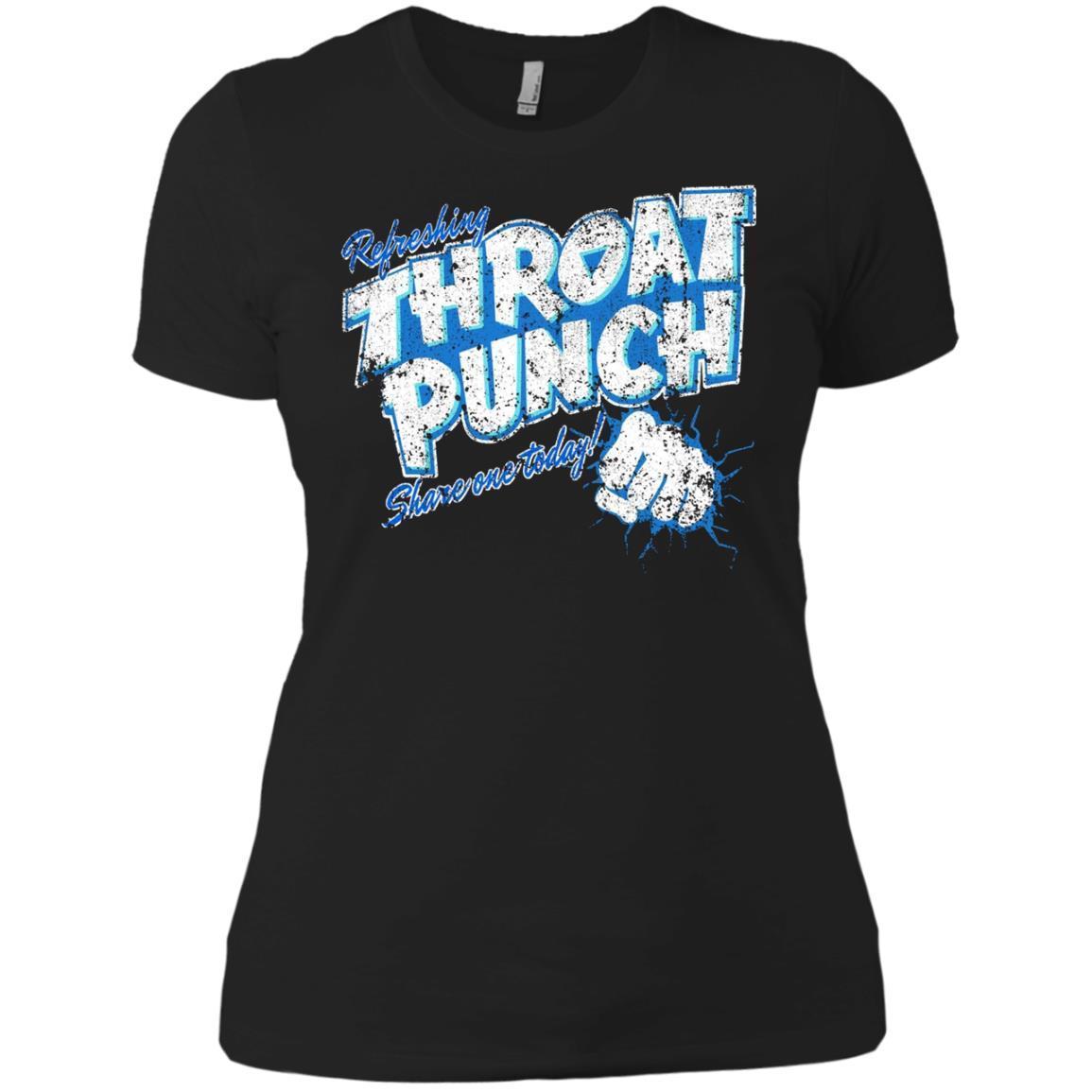 Refreshing Throat Punch Grunge Ladies' Boyfriend T-Shirt