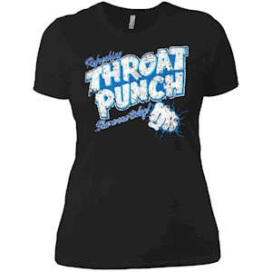 Refreshing Throat Punch Grunge Ladies' Boyfriend T-Shirt