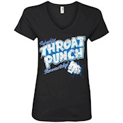 Refreshing Throat Punch Grunge Ladies' V-Neck T-Shirt