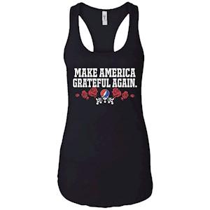 Make America Grateful Again – Ladies Ideal Racerback Tank