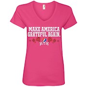 Make America Grateful Again – Ladies' V-Neck T-Shirt
