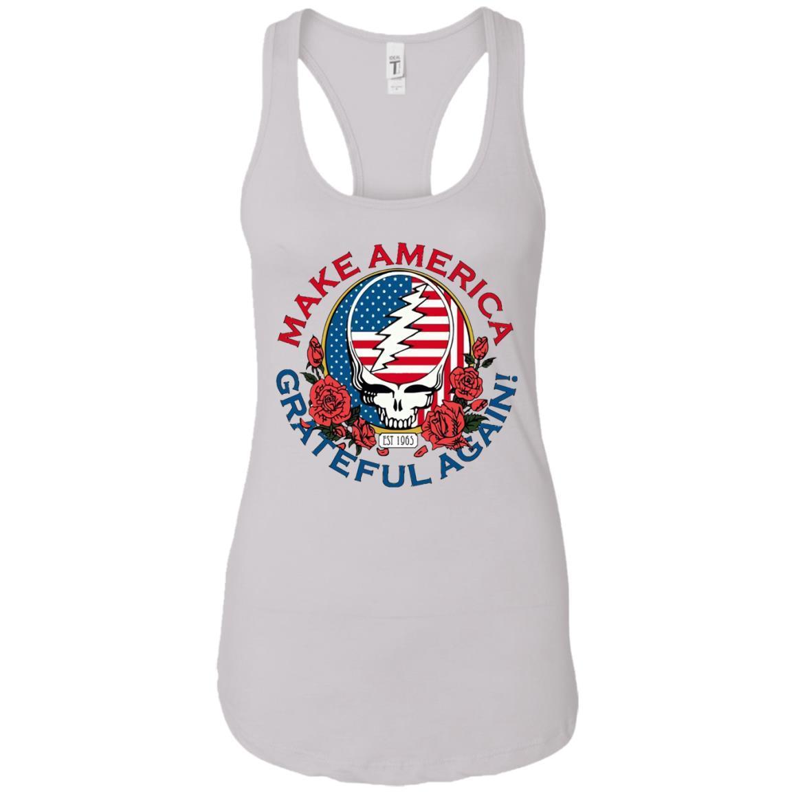 Make Grateful Again – America – Ladies Ideal Racerback Tank