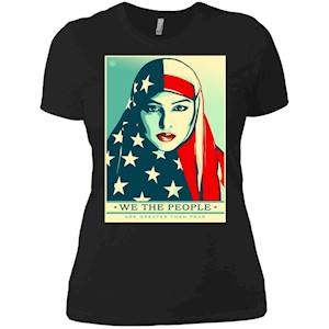 we the people are greater than fear – Ladies' Boyfriend T-Shirt