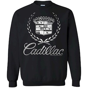 Cadillac Logo T-Shirt Classic Look – Pullover Sweatshirt