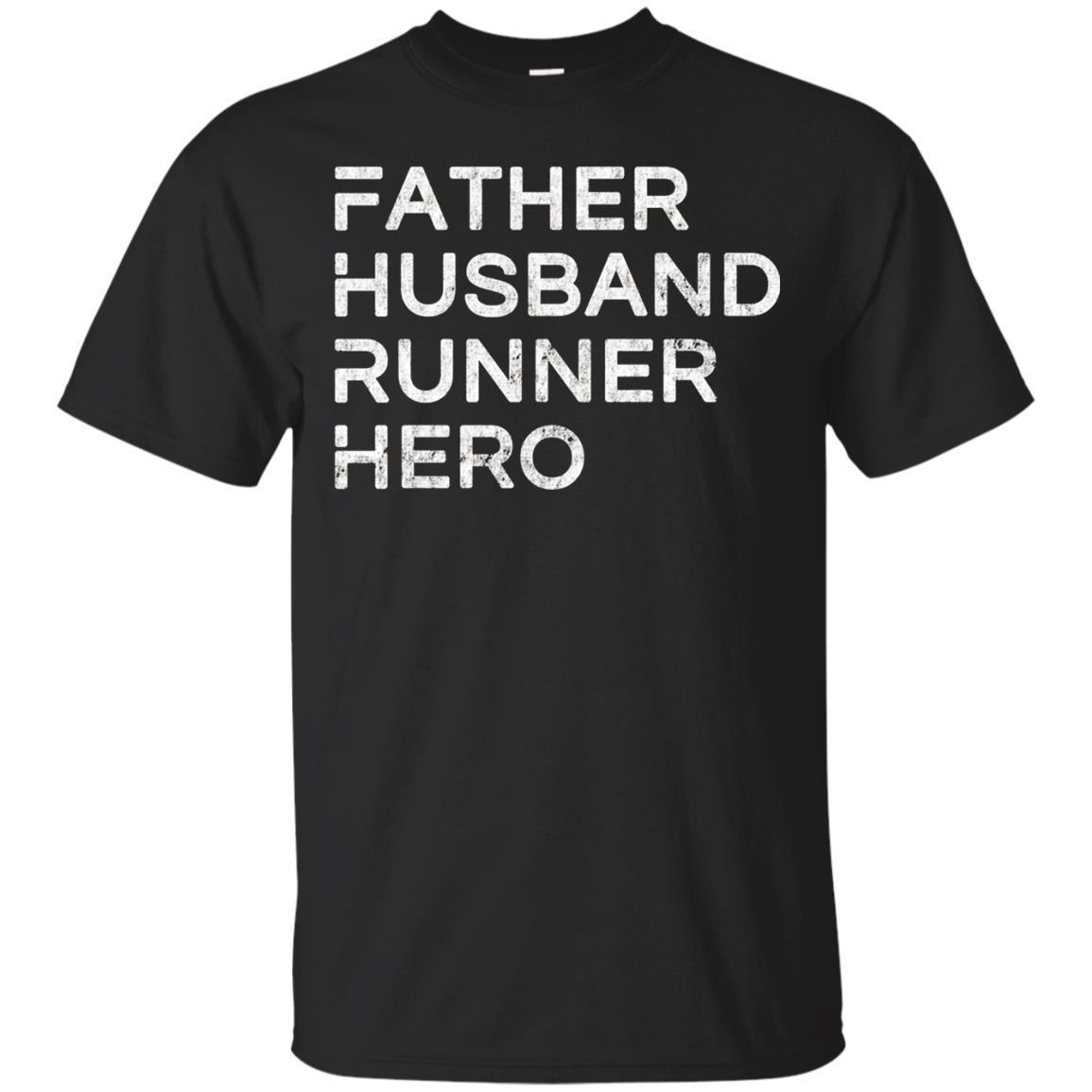 Mens Father Husband Runner Hero – Inspirational Father T-Shirt
