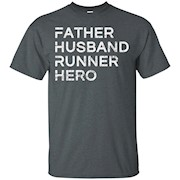 Mens Father Husband Runner Hero – Inspirational Father T-Shirt