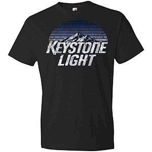 Keystone Light Beer Classic Look – Anvil Lightweight T-Shirt