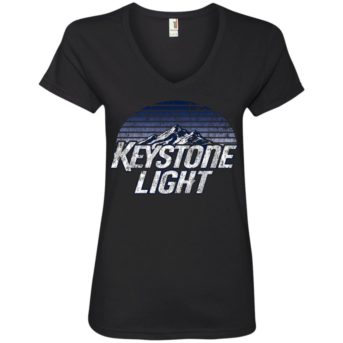 Keystone Light Beer Classic Look – Ladies' V-Neck T-Shirt
