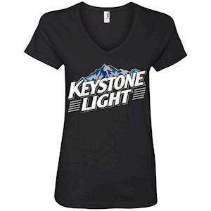 Keystone Light Beer – Ladies' V-Neck T-Shirt