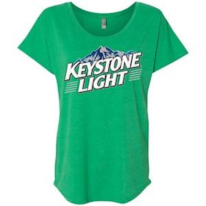 Keystone Light Beer – Ladies' Triblend Dolman Sleeve