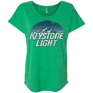 Keystone Light Beer Classic Look – Ladies' Triblend Dolman Sleeve