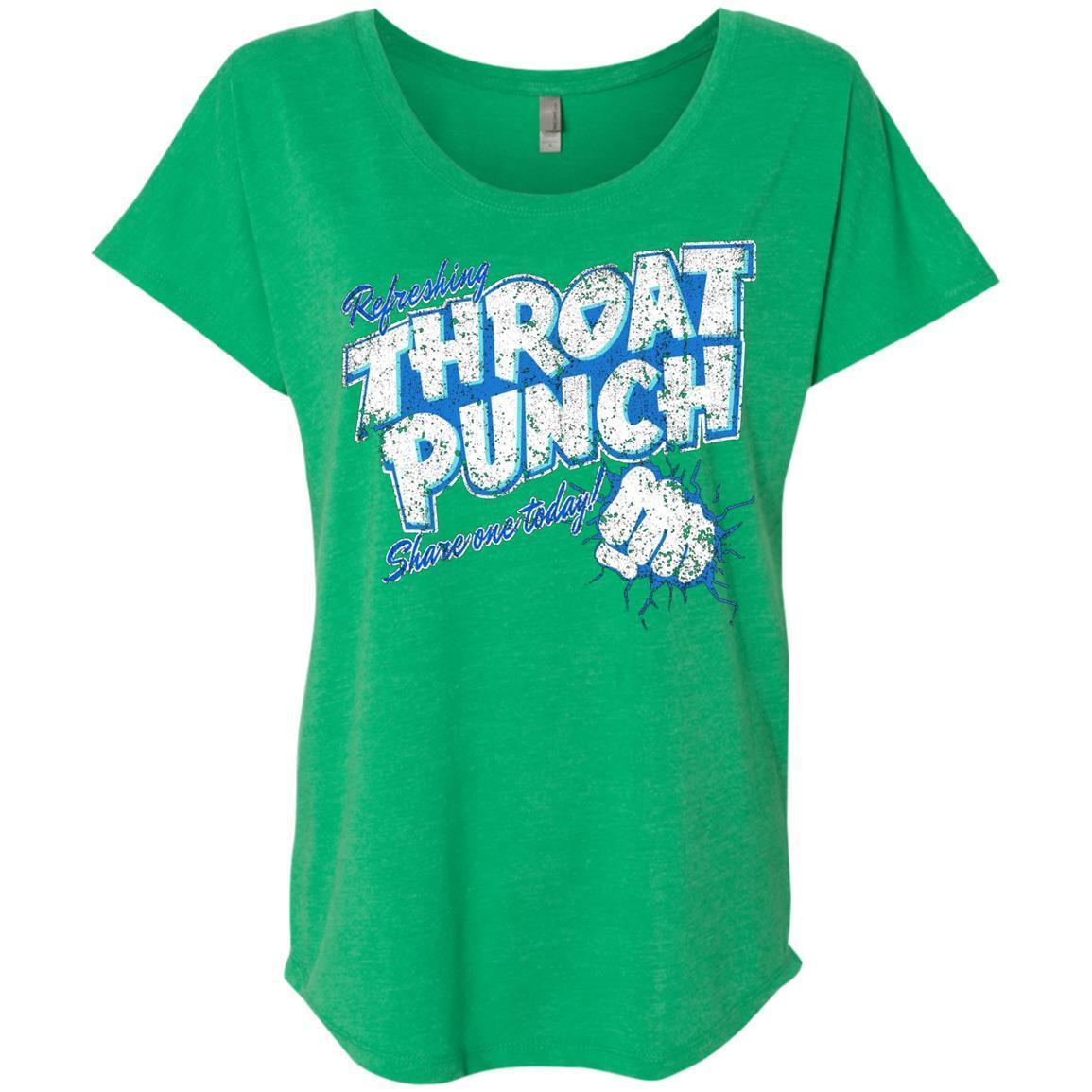 Refreshing Throat Punch Grunge – Ladies' Triblend Dolman Sleeve