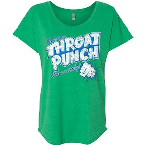 Refreshing Throat Punch Grunge – Ladies' Triblend Dolman Sleeve