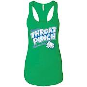 Refreshing Throat Punch Grunge – Ladies Ideal Racerback Tank