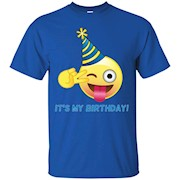 Emoji It's My Birthday Peace Sign with Party Hat T-Shirt