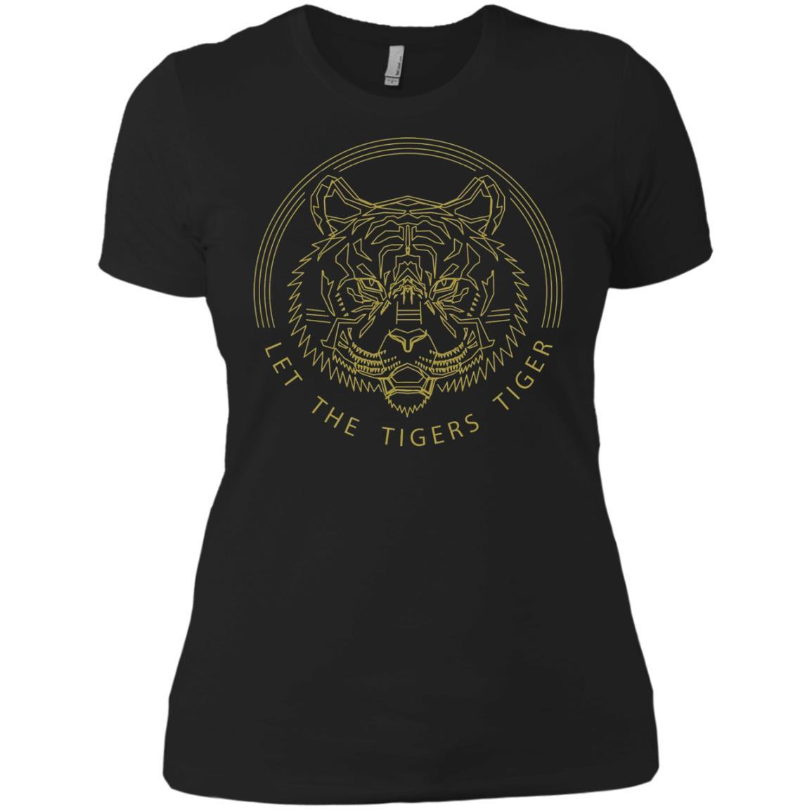 Let The Tigers Tiger Shirt GMM Let The Tigers Tiger – Ladies' Boyfriend T-Shirt