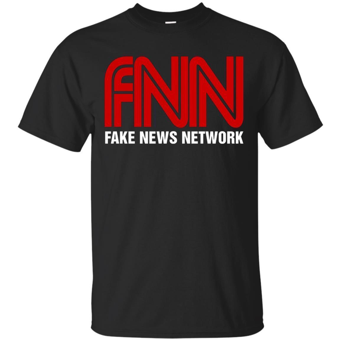 Fake News Network T-Shirt – Funny FNN Logo Humor Quote Tee
