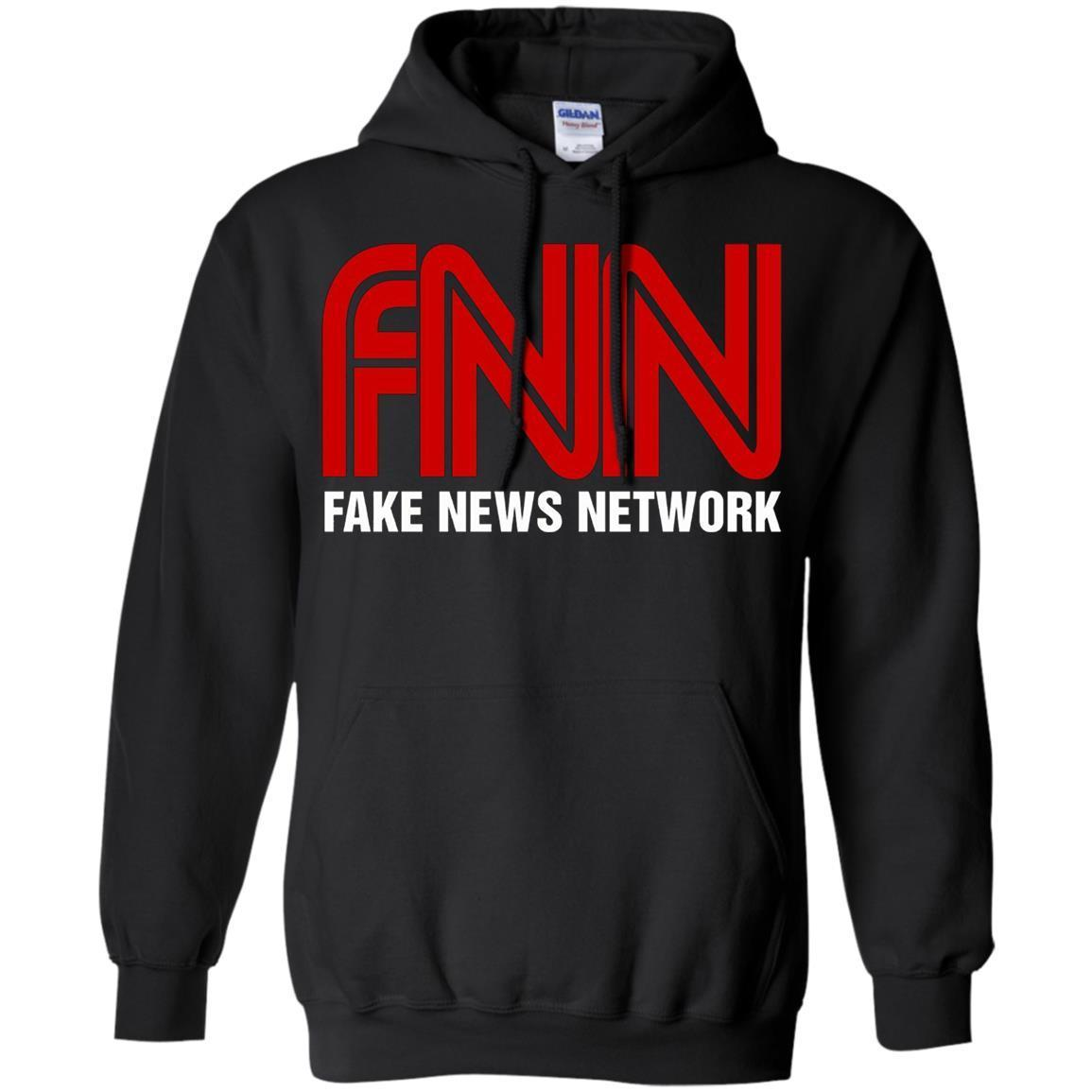 Fake News Network – Funny FNN Logo Humor Quote Tee – Pullover Hoodie