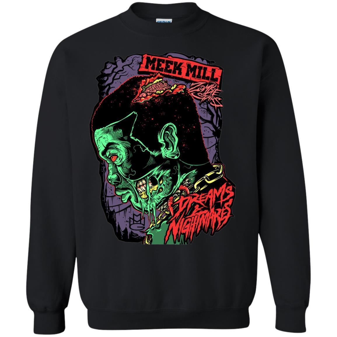 Meek Mill Zombie Tee Shirt Halloween – Crewneck Pullover Sweatshirt