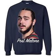 Post Malone White Iverson – Crewneck Pullover Sweatshirt
