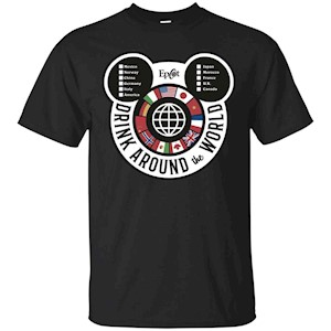 Drink Around the World – EPCOT Checklist – T-Shirt