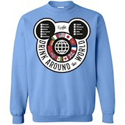 Drink Around the World – EPCOT Checklist – Crewneck Pullover Sweatshirt