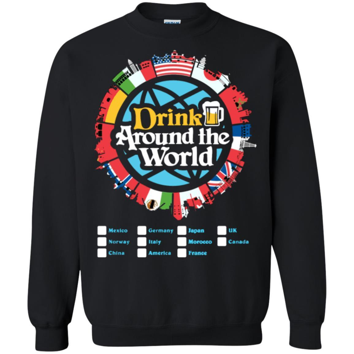 Drink Around the World – Pullover Sweatshirt