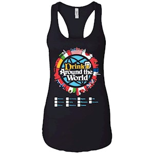 Drink Around the World – Ladies Ideal Racerback Tank