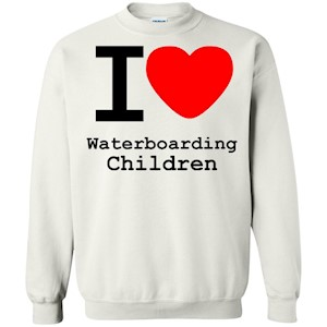 I love Waterboarding Children – Crewneck Pullover Sweatshirt