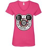 Drink Around the World – EPCOT Checklist – Ladies' V-Neck T-Shirt
