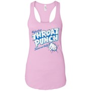 Refreshing Throat Punch Grunge – Ladies Ideal Racerback Tank