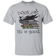 Book Cat Life Is Good T-Shirt