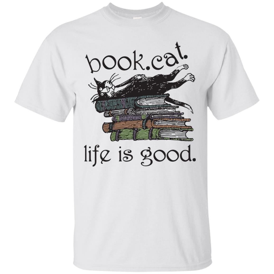 Book Cat Life Is Good T-Shirt