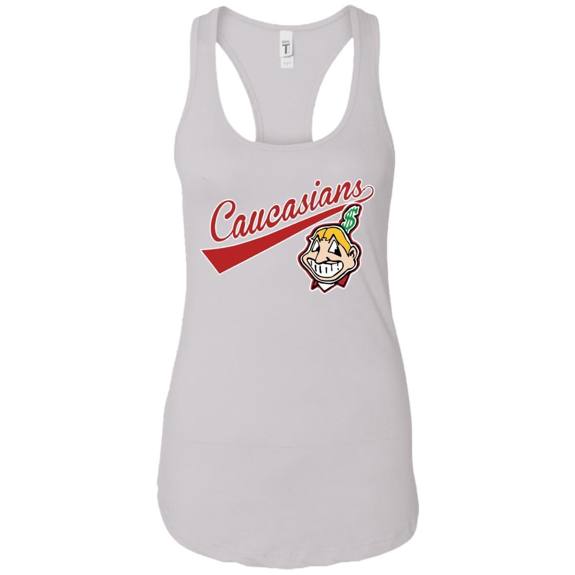 Cleveland Caucasians Native Go Indians – Ladies Ideal Racerback Tank