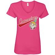 Cleveland Caucasians Native Go Indians – Ladies' V-Neck T-Shirt
