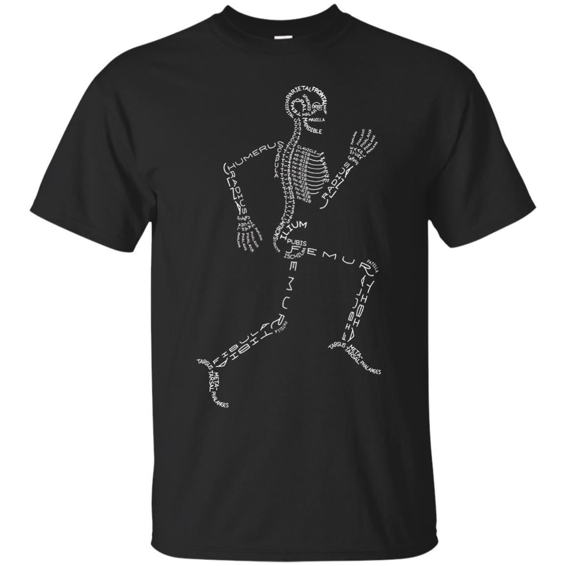Anatomy Medicine Human Skeleton Bone Name Geek T-Shirt