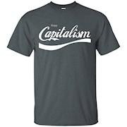 Official Capitalist Mega Tees Enjoy Capitalism Funny Tee T-Shirt