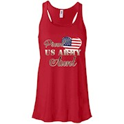 Proud US Army Aunt Shirt – Army Aunt Patriotic Heart