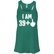 I Am 39 + Middle Finger Funny 40th Birthday T-Shirt – Women Tank
