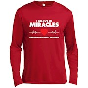 I Believe in Miracles CHD Awareness T-Shirt – Long Sleeve Tee