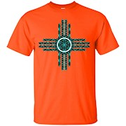 New Mexico State Flag Shirt – Turquoise Sacred Geometry Zia T-Shirt