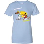 Slowpoke Rodriguez Speedy Gonzalez Funny Vintage Cartoon Tee T-Shirt