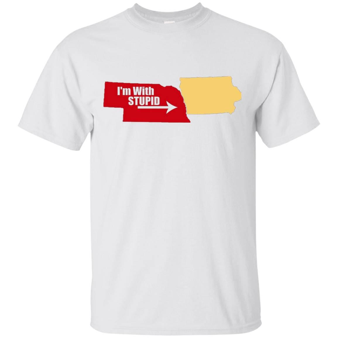 Nebraska Iowa Rivalry I'm with Stupid T-Shirt